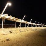 Noční koupání v Mrtvém moři