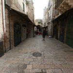 Příliš často se návštěvníkům starého města v Jeruzalémě nepodaří vidět takto prázdné uličky... Většinou zde proudí davy lidí a bývá zde pořádná tlačenice....
