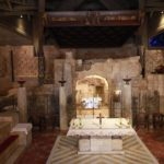Místo zvěstování P. Marie ve stejnojmenném chrámu v Nazaretě