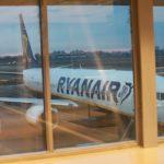 Při odletu z bratislavského letiště nebylo zrovna moc krásné počasí...