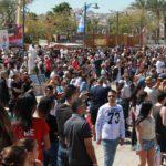 I mezi návštěvníky Eilatu dominovali hosté z bývalých zemí Sovětského svazu.