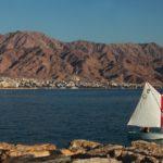 Pohled přes moře směrem do Jordánska