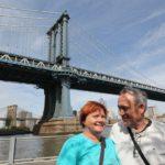 Blanka a Bernd pod Manhattan Bridge