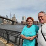 Blanka a Bernd s Brooklyn Bridge za zády.