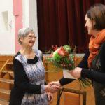 Marii Svatošové na závěr poděkovala a k blížícím se narozeninám popřála pastorační asistentka charity Hana Brigita Reichsfeld.