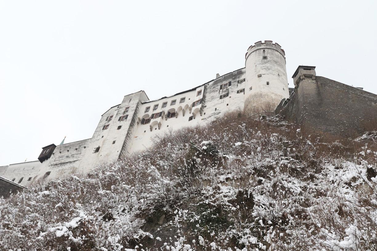 A tady už jsem dorazila těsně pod pevností  Hohensalzburg
