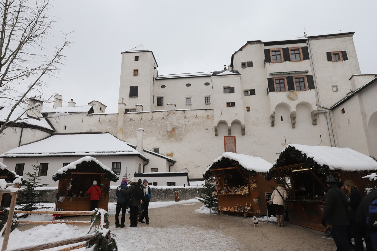Adventní trh na pevnosti Hohensalzburg
