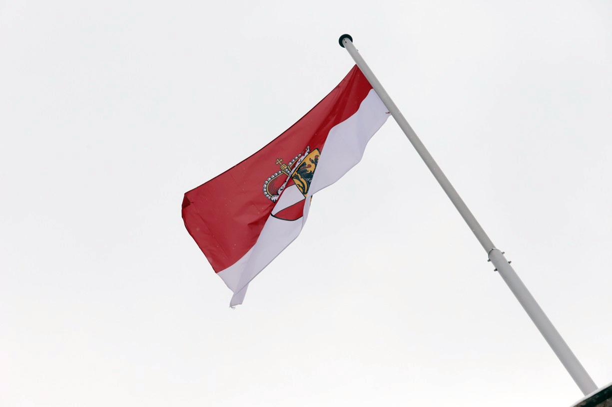Na pevnosti vlála vlajka Salzburgu