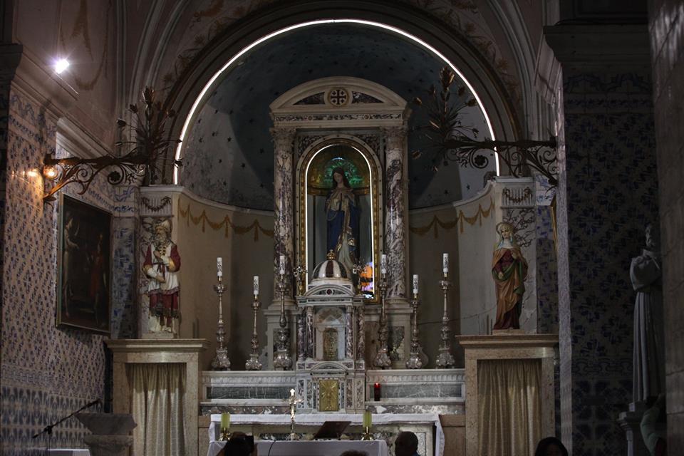Interiér kostela sv. Jana Křtitele v Ein Karem
