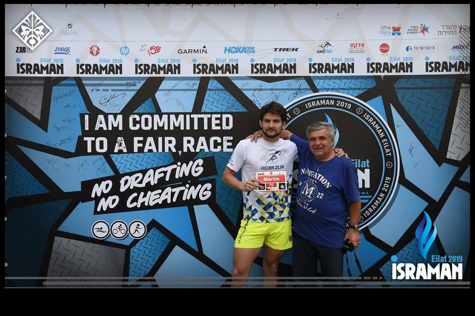 Martin s tatínkem Pavlem před závodem.