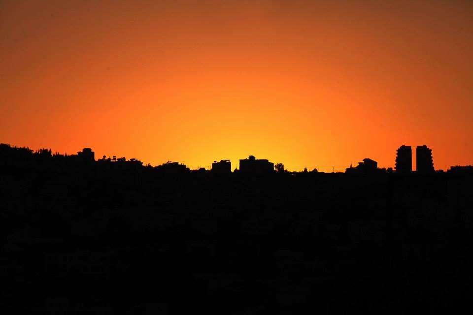 Soumrak nad Bethlehemem - končí první den mé návštěvy Svaté země