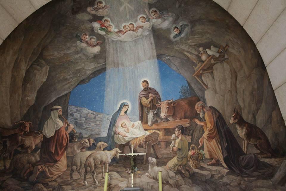Fresky v kostele na poli pastýřů