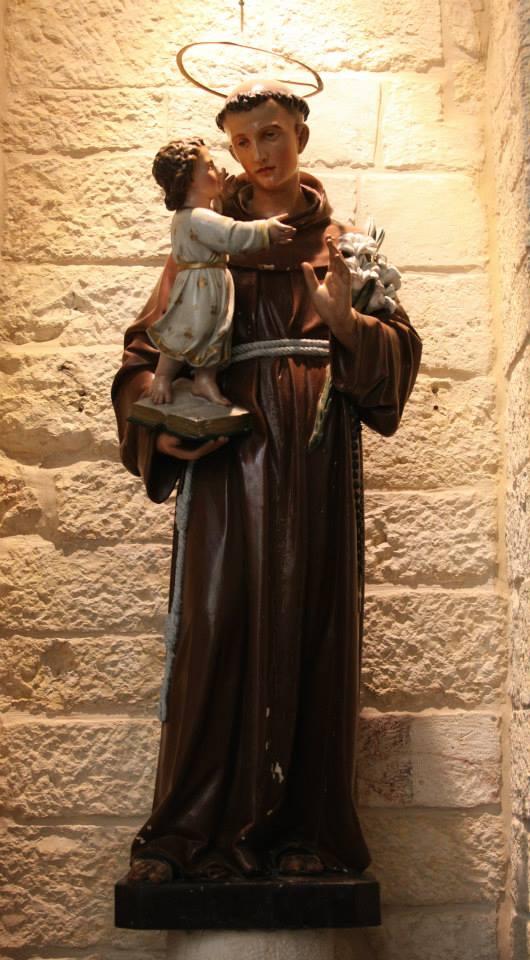 Sv. Antonín v kostele sv. Kateřiny vedle baziliky Božího narození
