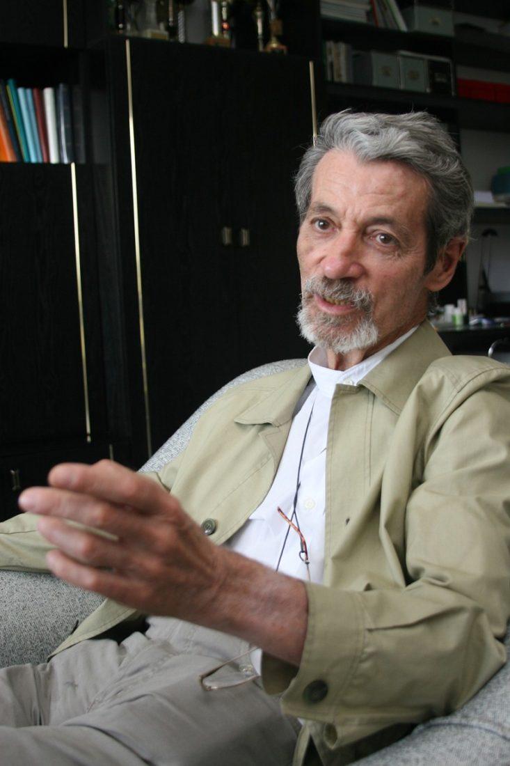 Jezuitský kněz P. Jan Palacký při rozhovoru v Blatnici v červenci roku 2007