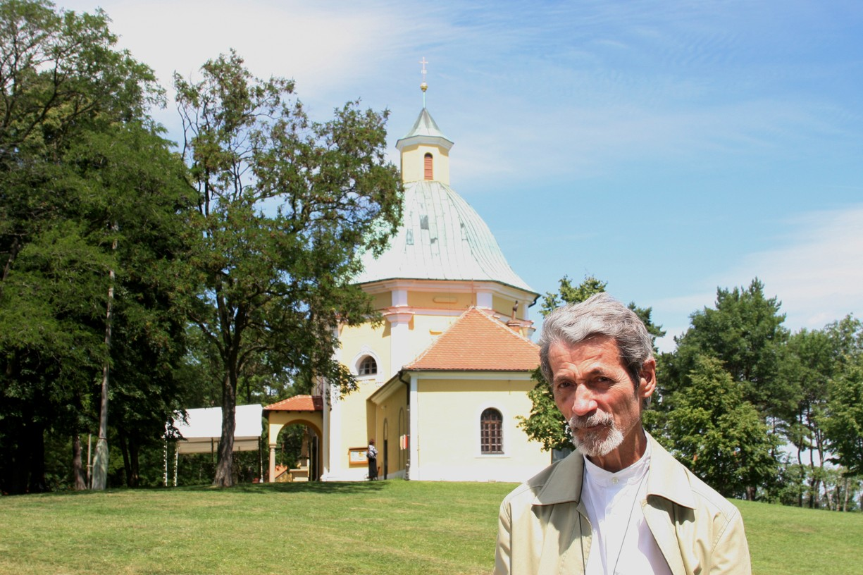 Misionář P. Jan Palacký na Antonínku v červenci roku 2007