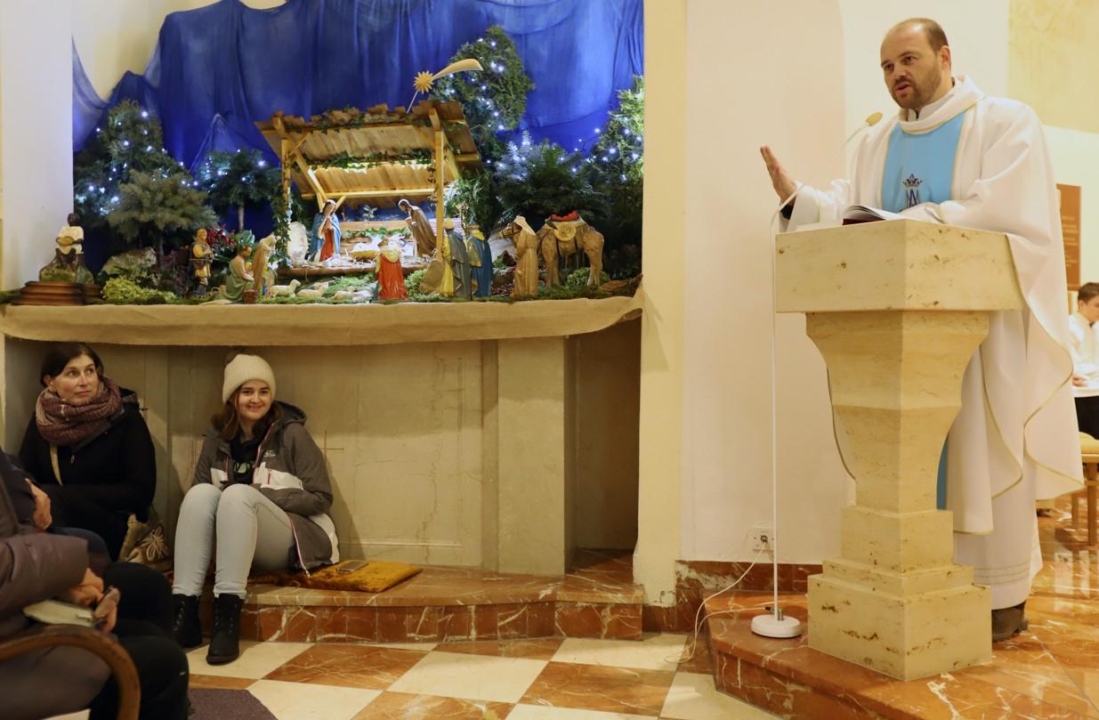 Hlavním celebrantem mše svaté byl P. Radim Kuchař