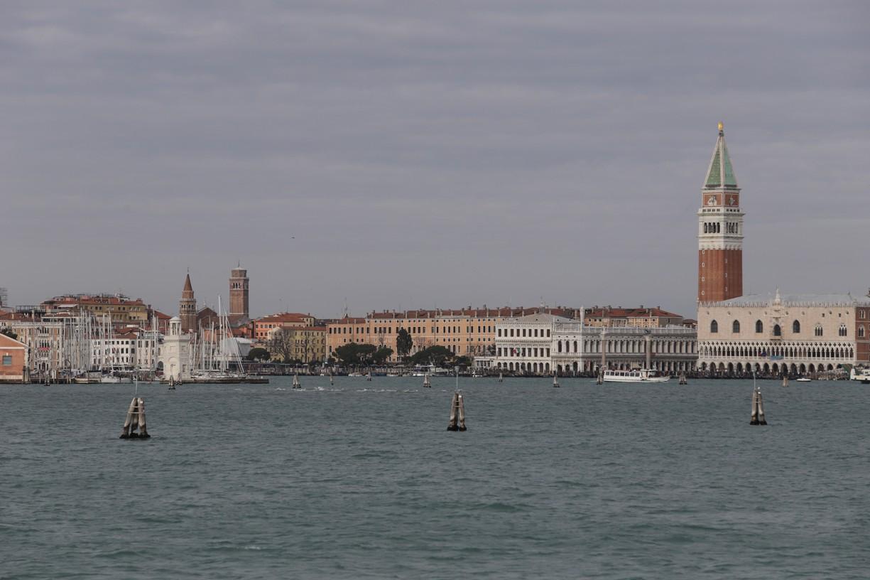 Přeprava do Benátek po vodě.