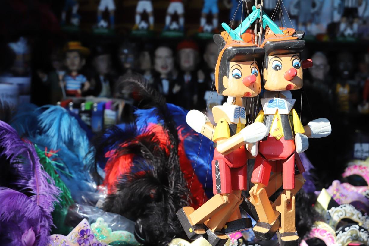 Postavička Pinokia patří nerozlučně k Itálii
