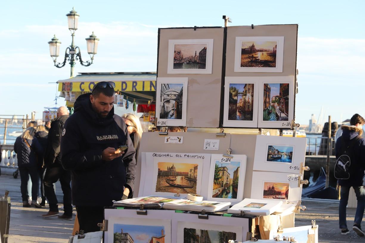 Prodejci v přístavu