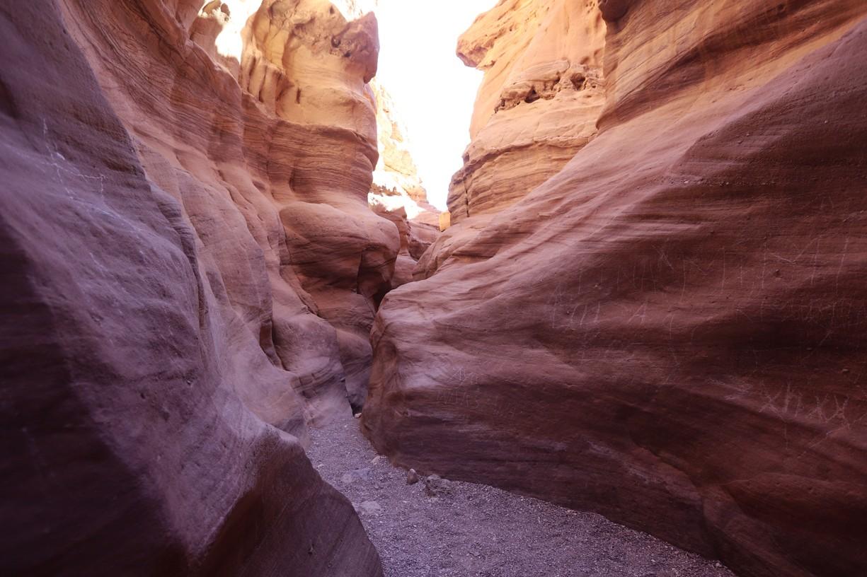 Red Canyon bez turistů v ranním rozbřesku