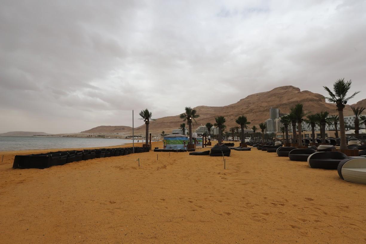 U Mrtvého moře se po nebi valily zlověstné mraky