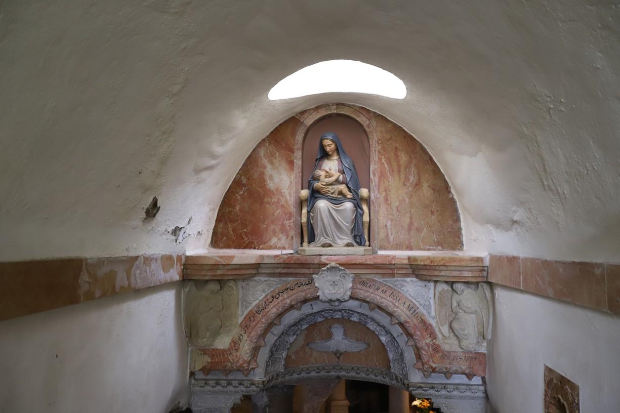 Vstup do Mléčné jeskyně v Bethlehemu