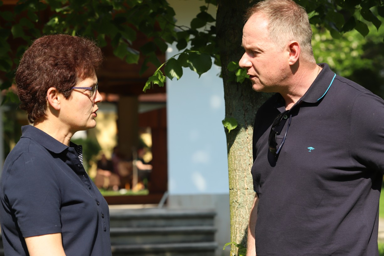 Kateřinu Lachmanovou přišel pozdravit politik Petr Gazdík