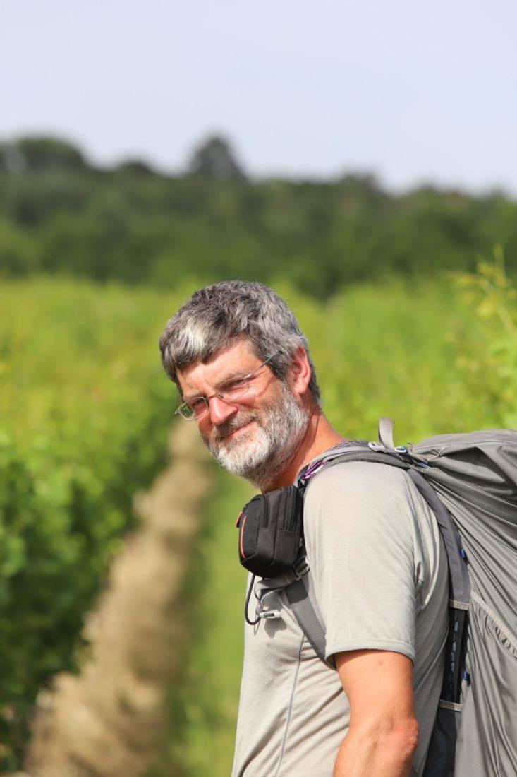 Tomáš Lachman do blatnických vinohradů připutoval ze Šumavy