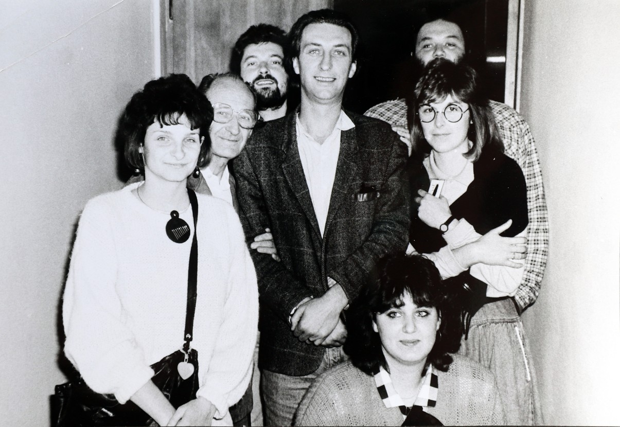 Do Veselí nad Moravou zavítal také herec Bolek Polívka. Vpravo Hana Reichsfeldová.