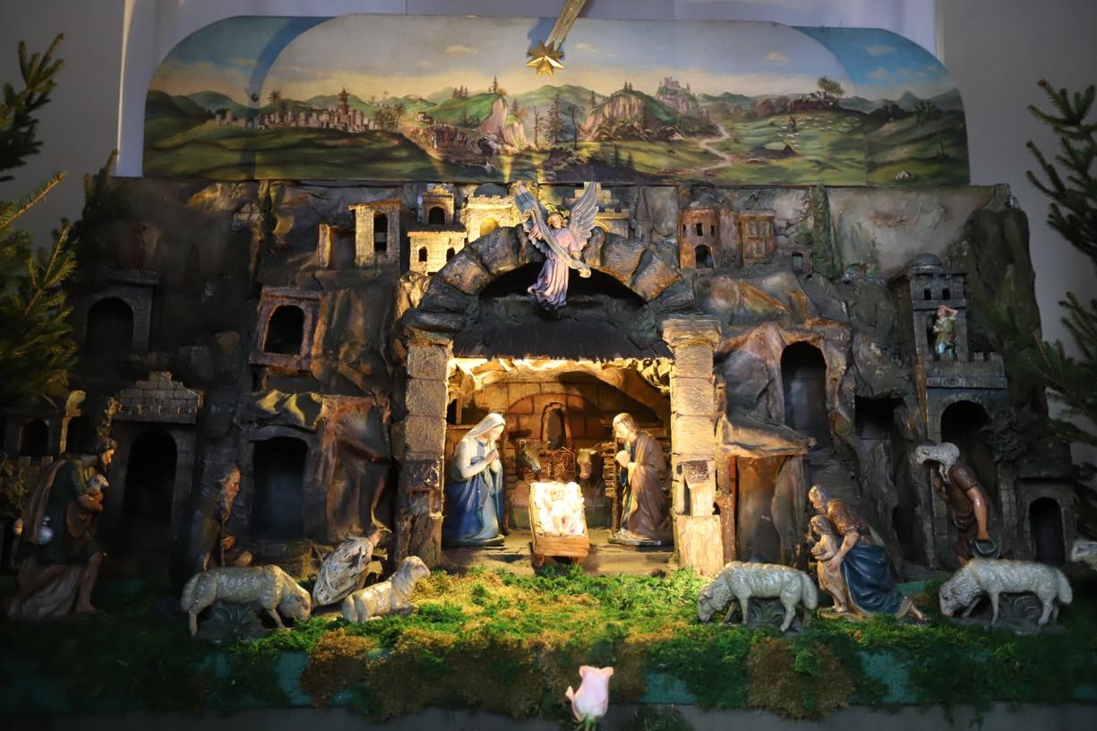 Betlém v brněnském kostele sv. Jakuba.