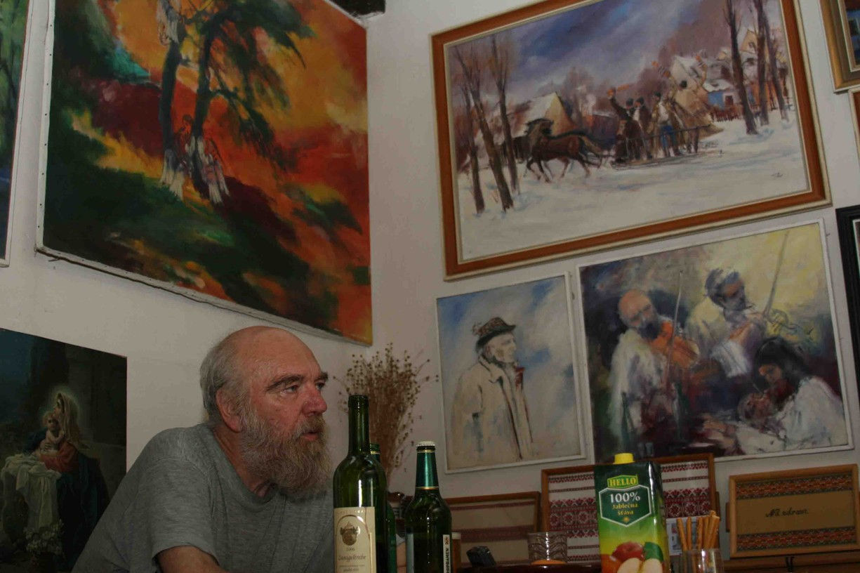 Na návštěvě u Jury Slováka v Javorníku v červenci roku 2007.