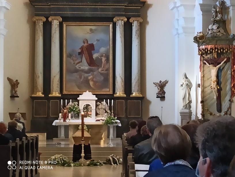Pohřeb Marie Nehybové v chrámu sv. Vavřince v Hodoníně. Foto: Lenka Fojtíková