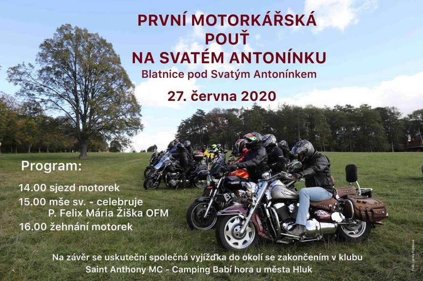 Pozvánka na první Motorkářskou pouť na Svatém Antonínku