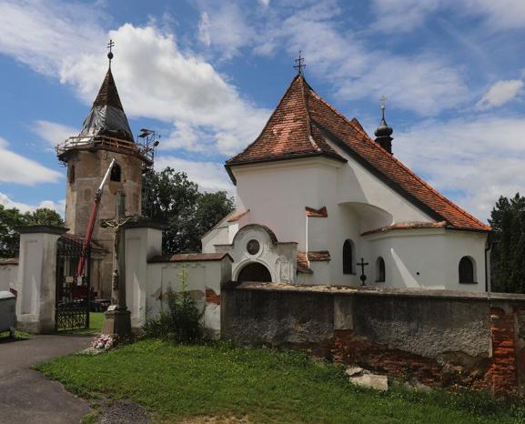 Kostel svatého Oldřicha v Nových Sadech.