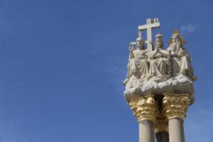 Na náměstí v Jaroměřicích nad Rokytnou je takovýto krásný sloup Sv. Trojice