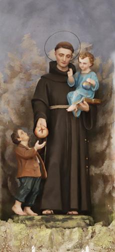 V kostelíku byl i svatý Antonín