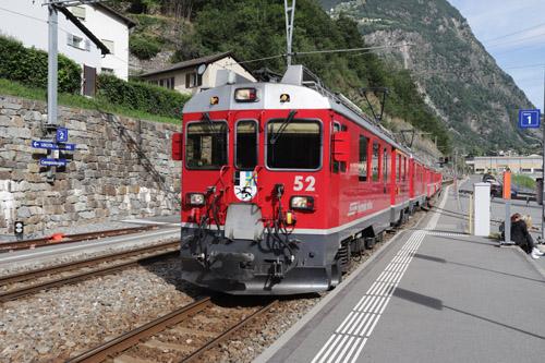 Rhätische Bahn a panoramatický vláček Bernina express