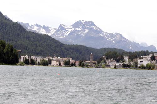 U jezera St. Moritz
