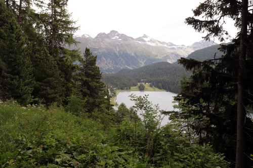 Krásná příroda okolí St. Moritz ve Švýcarsku