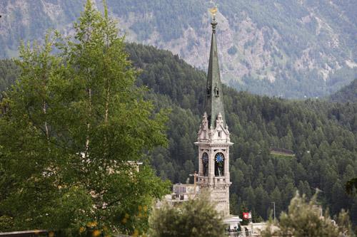 Evangelický kostel ve starém městě St. Moritz