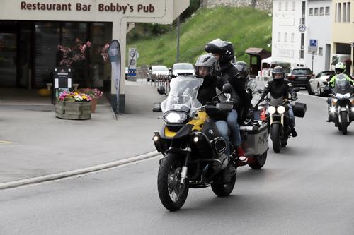 Švýcarsko je oblíbenou destinací motorkářů