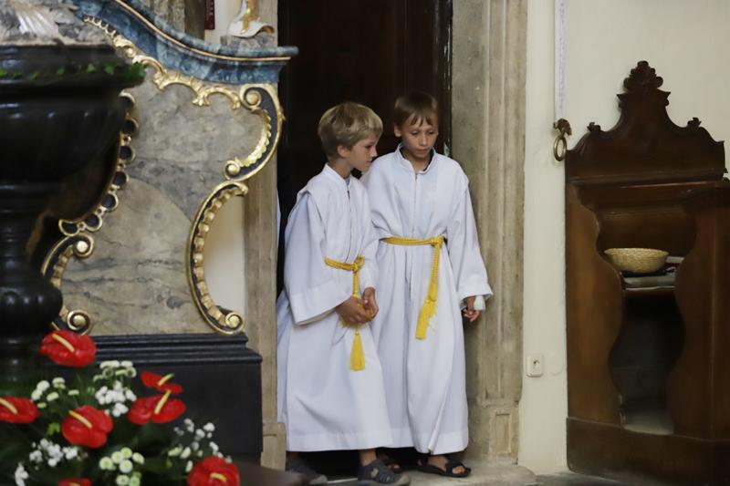 Mše sv. v kostele sv. Jana Křtitele ve Velkých Losinách