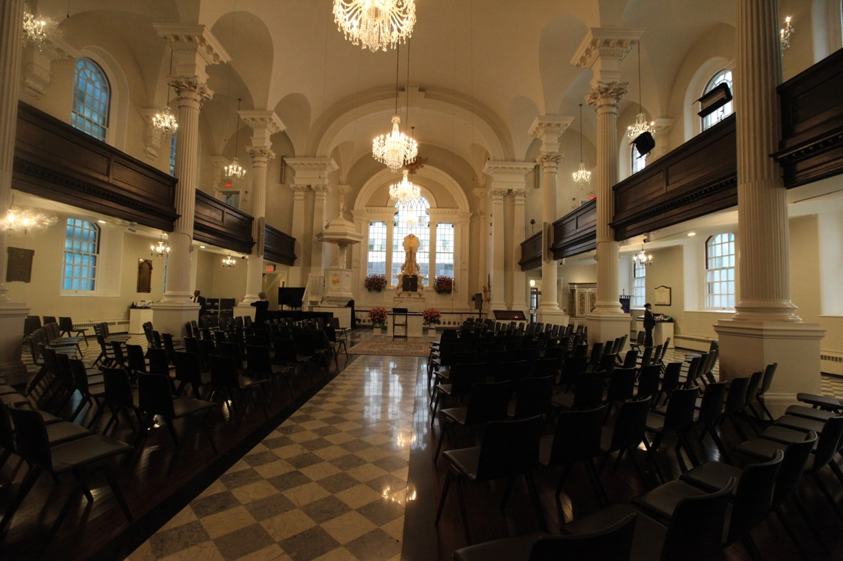 Při mém příchodu byl kostel sv. Pavla prázdný