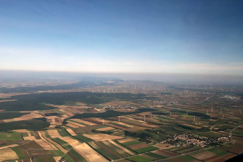 Pohled na Rakousko shora, odkud jsme odlétali